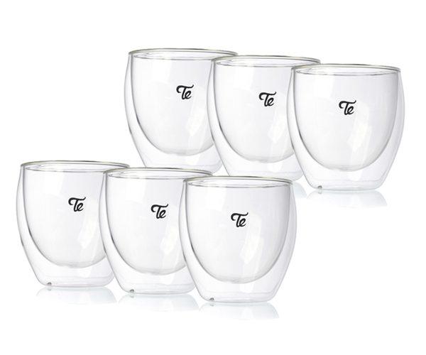 כוסות זכוכית דאבל גלאס 250 מ״ל