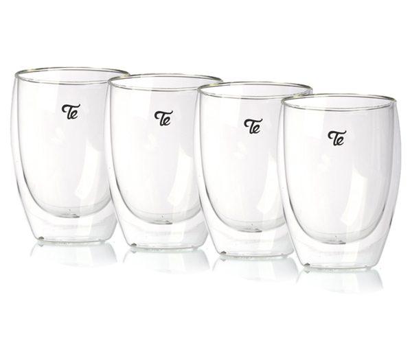כוסות זכוכית דאבל גלאס 350 מ״ל