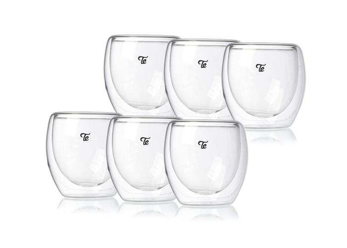 כוסות זכוכית דאבל גלאס 80 מ״ל