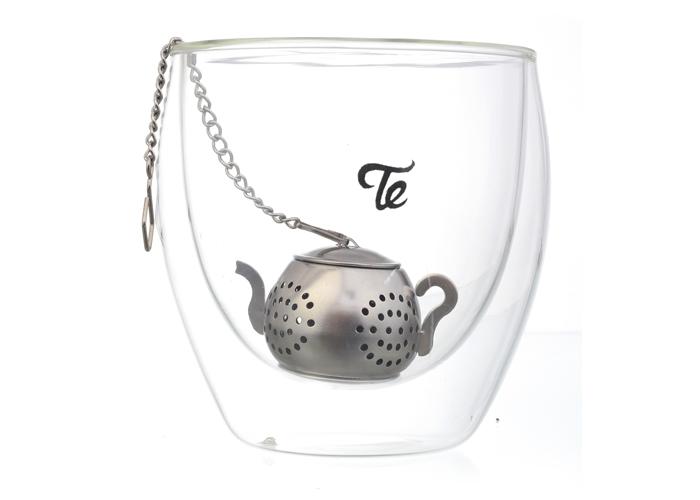 חולט תה מנירוסטה בצורת קנקן