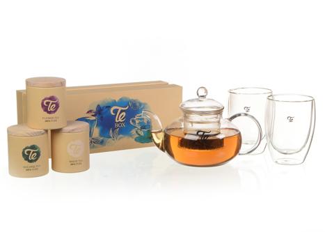מארז מתנה תה כוסות וקנקן